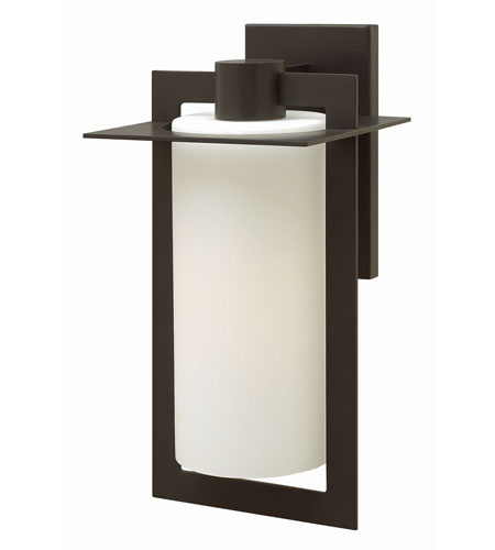 Hinkley 2925BZ-GU24 Colfax 1 Light 19 inch Bronze Outdoor Wall in Etched Seedy, GU24, Etched Opal Glass photo