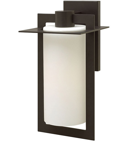 Hinkley 2925BZ Colfax 1 Light 19 inch Bronze Outdoor Wall in Etched Opal, Incandescent, Etched Opal Glass photo