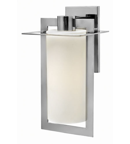 Hinkley 2925PS-GU24 Colfax 1 Light 19 inch Polished Stainless Steel Outdoor Wall in Etched Opal, GU24, Etched Opal Glass photo