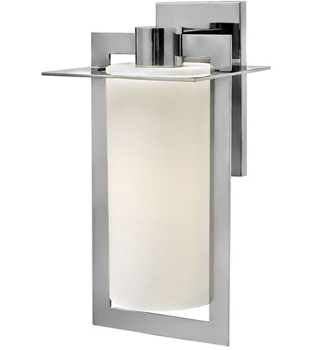 Hinkley 2925PS Colfax 1 Light 19 inch Polished Stainless Steel Outdoor Wall Mount in Incandescent, Etched Opal Glass photo