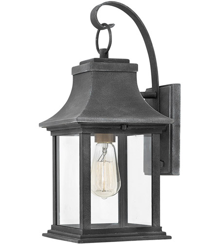 Hinkley 2930DZ Adair 1 Light 17 inch Aged Zinc Outdoor Wall Mount, Heritage photo