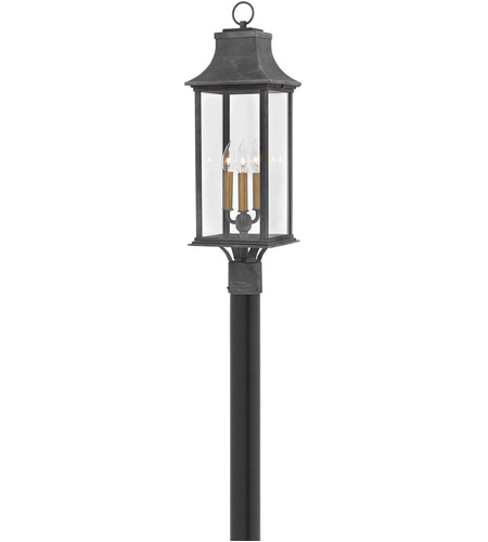 Hinkley 2931DZ Adair 3 Light 28 inch Aged Zinc Outdoor Post Mount photo