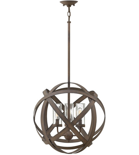 Hinkley 29703VI Carson 3 Light 19 inch Vintage Iron Outdoor Chandelier, Open Air photo