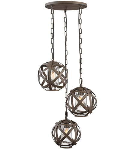 Hinkley 29704VI Carson 3 Light 21 inch Vintage Iron Outdoor Pendant photo