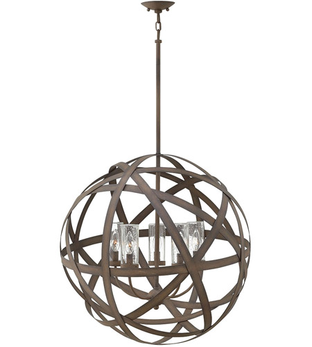 Hinkley 29705VI-LL Carson LED 27 inch Vintage Iron Outdoor Pendant photo