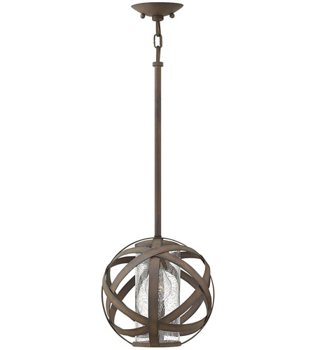 new product 5d2e9 90a39 Hinkley 29707VI Carson 1 Light 10 inch Vintage Iron Outdoor Pendant, Open  Air