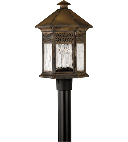 Hinkley Lighting Westwinds 3 Light Post Lantern (Post Sold Separately) in Sienna 2991SN