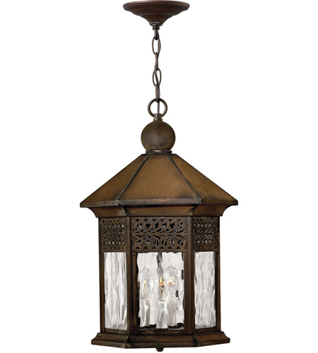 Hinkley Lighting Westwinds 3 Light Outdoor Hanging Lantern in Sienna 2992SN