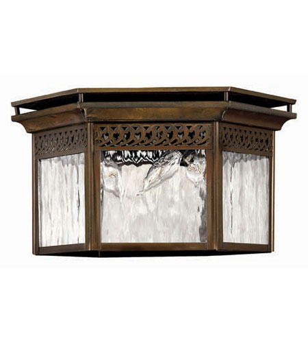 Hinkley Lighting Westwinds 3 Light Outdoor Flush Lantern in Sienna 2999SN photo