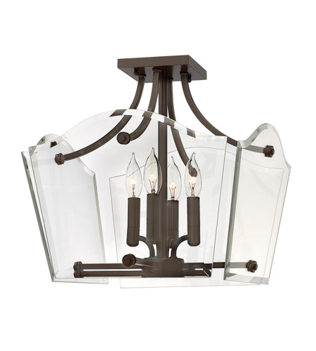 Hinkley Lighting Wingate 4 Light Foyer Pendant in Oil Rubbed Bronze 3001OZ