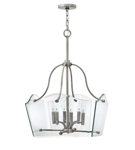 Hinkley Lighting Wingate 6 Light Chandelier in Polished Antique Nickel 3004PL