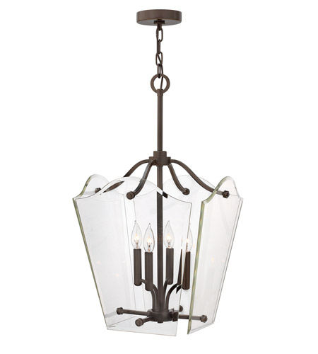 Hinkley Lighting Wingate 4 Light Foyer Pendant in Oil Rubbed Bronze 3006OZ