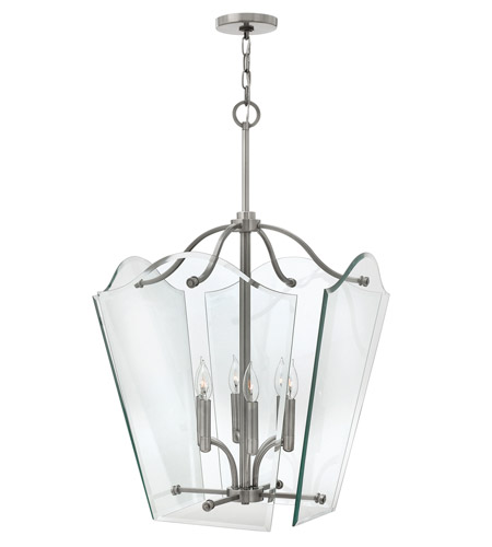 Hinkley 3008PL Wingate 6 Light 20 inch Polished Antique Nickel Hanging Foyer Ceiling Light photo