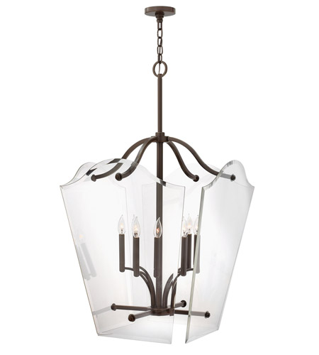 Hinkley 3009OZ Wingate 8 Light 26 inch Oil Rubbed Bronze Foyer Pendant Ceiling Light, Clear Beveled Glass photo