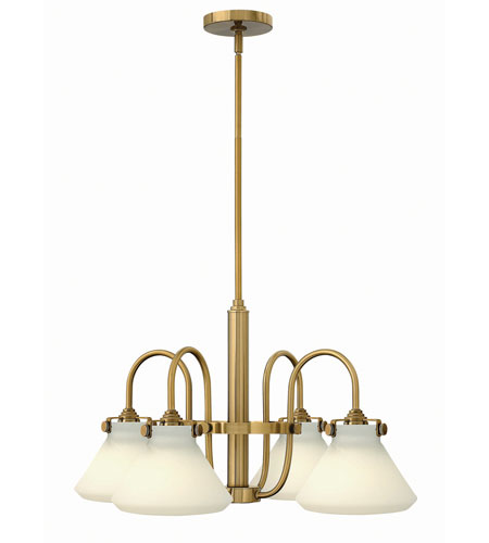 Hinkley 3040BC Congress 4 Light 26 inch Brushed Caramel Chandelier Ceiling Light, Retro Glass photo