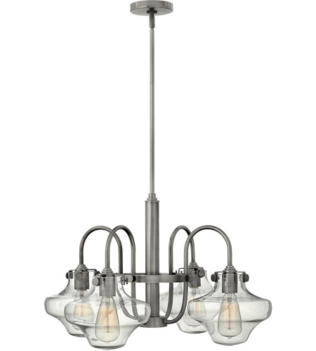 Hinkley Lighting Congress 4 Light Chandelier in Antique Nickel 3041AN photo