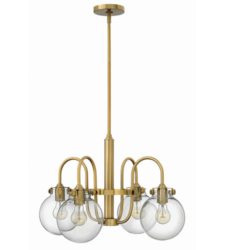 Hinkley Lighting Congress 4 Light Chandelier in Brushed Caramel 3044BC photo