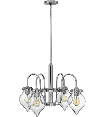 Hinkley Lighting Congress 4 Light Chandelier in Chrome 3047CM photo