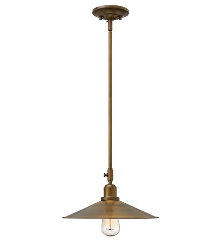 Hinkley 3054HB Elliot 1 Light 13 inch Heritage Brass Mini-Pendant Ceiling Light photo