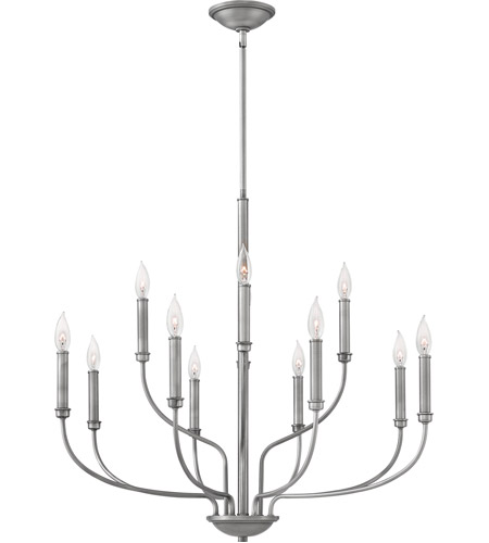 Hinkley 3078AN Alister 12 Light 32 inch Antique Nickel Chandelier Ceiling Light photo