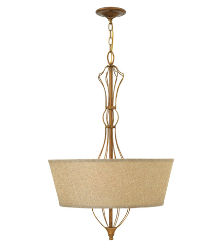 Hinkley Lighting Celine 4 Light Hanging Foyer in Antique Gold Leaf 3084GF