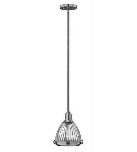 Hinkley Lighting Signature 1 Light Mid-Pendant in Brushed Nickel 3100BN