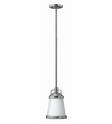Hinkley Lighting Signature 1 Light Mid-Pendant in Brushed Nickel 3101BN photo