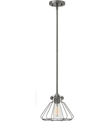 Hinkley 3110AN Congress 1 Light 9 inch Antique Nickel Mini-Pendant Ceiling Light photo