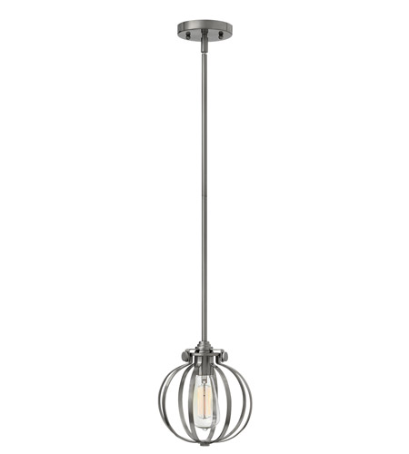 Hinkley 3111AN Congress 1 Light 8 inch Antique Nickel Mini-Pendant Ceiling Light photo