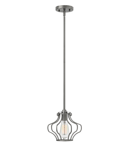 Hinkley 3112AN Congress 1 Light 9 inch Antique Nickel Mini-Pendant Ceiling Light photo