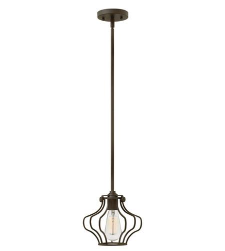 Hinkley Lighting Congress 1 Light Mini-Pendant in Oil Rubbed Bronze 3112OZ