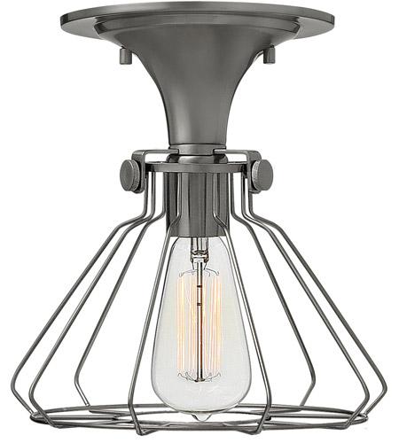 Hinkley Lighting Congress 1 Light Semi Flush in Antique Nickel 3114AN