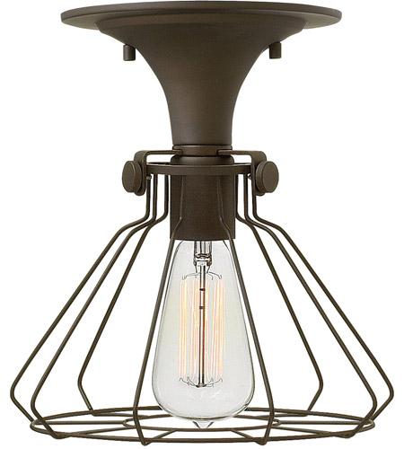 Hinkley Lighting Congress 1 Light Semi Flush in Oil Rubbed Bronze 3114OZ