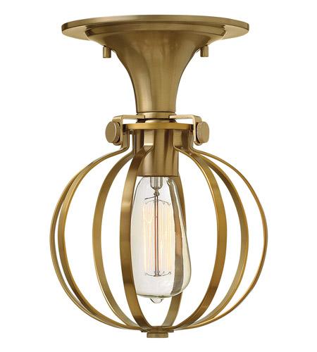 Hinkley Lighting Congress 1 Light Semi Flush in Brushed Caramel 3115BC