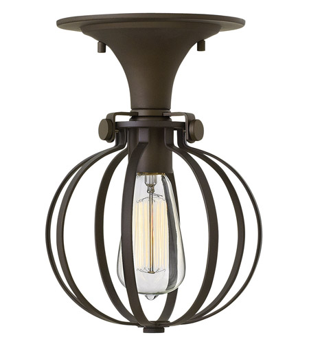 Hinkley Lighting Congress 1 Light Semi Flush in Oil Rubbed Bronze 3115OZ photo