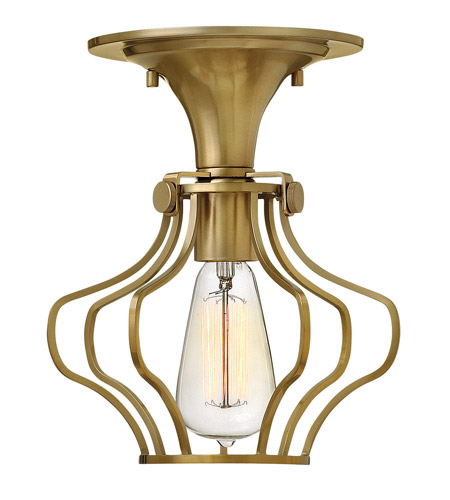 Hinkley Lighting Congress 1 Light Semi Flush in Brushed Caramel 3116BC