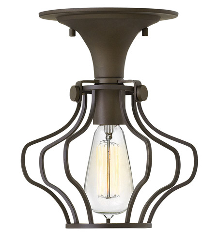 Hinkley Lighting Congress 1 Light Semi Flush in Oil Rubbed Bronze 3116OZ photo