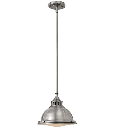 Hinkley 3122PL Amelia 1 Light 12 inch Polished Antique Nickel Mini-Pendant Ceiling Light photo