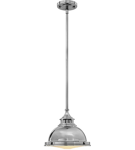 Hinkley 3122PN Amelia 1 Light 12 inch Polished Nickel Mini-Pendant Ceiling Light photo