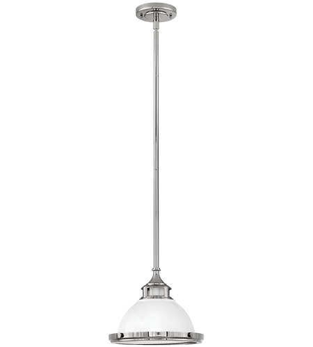 Hinkley 3122PT Amelia 1 Light 12 inch Polished White Pendant Ceiling Light photo