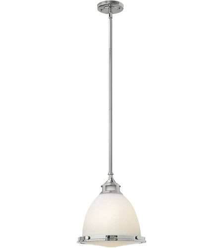 Hinkley 3124CM Amelia 1 Light 13 inch Chrome Mini-Pendant Ceiling Light in Incandescent, Etched Opal Glass photo