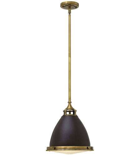 Hinkley 3126KZ Amelia 1 Light 13 inch Buckeye Bronze Mini-Pendant Ceiling Light in Incandescent, Etched Prismatic Lense photo