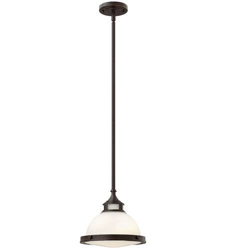 Hinkley 3127KZ Amelia 1 Light 12 inch Buckeye Bronze Mini-Pendant Ceiling Light in Incandescent, Etched Opal Glass photo