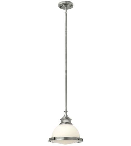 Hinkley Lighting Amelia 1 Light Mini-Pendant in Polished Antique Nickel 3127PL