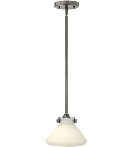 Hinkley 3130AN Congress 1 Light 8 inch Antique Nickel Mini-Pendant Ceiling Light in Incandescent photo