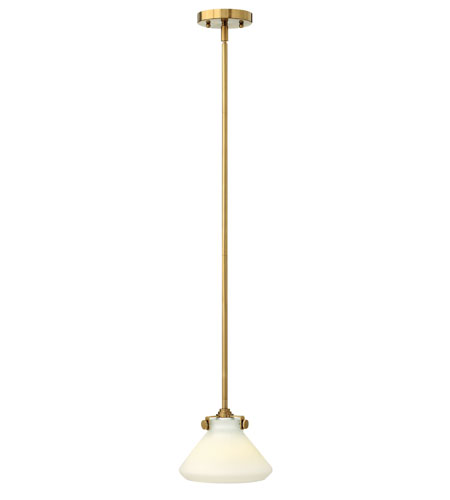 Hinkley 3130BC Congress 1 Light 8 inch Brushed Caramel Mini-Pendant Ceiling Light in Incandescent photo