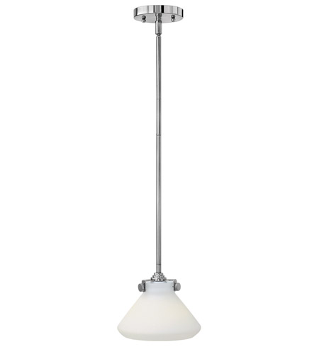Hinkley 3130CM-LED Congress 1 Light 8 inch Chrome Mini-Pendant Ceiling Light in LED, Etched Opal Glass photo