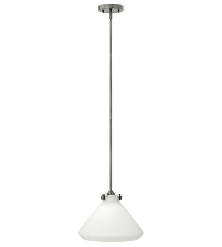 Hinkley Lighting Congress 1 Light Mini-Pendant in Antique Nickel 3131AN
