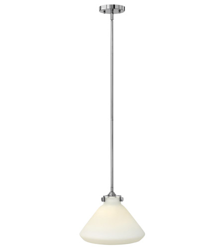 Hinkley 3131CM-GU24 Congress 1 Light 12 inch Chrome Mini-Pendant Ceiling Light in GU24, Etched Opal Glass photo