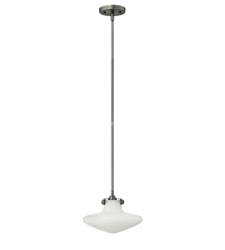 Hinkley Lighting Congress 1 Light Mini-Pendant in Antique Nickel 3132AN photo